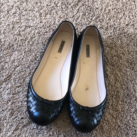 0f417f657 Bottega Veneta Shoes | Black Leather Woven Ballet Flats | Poshmark